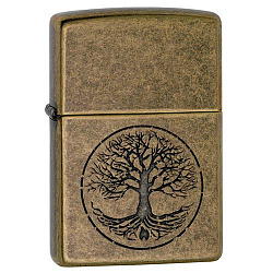 Зажигалка Classic с покр. Antique Brass медная Zippo 29149 GS
