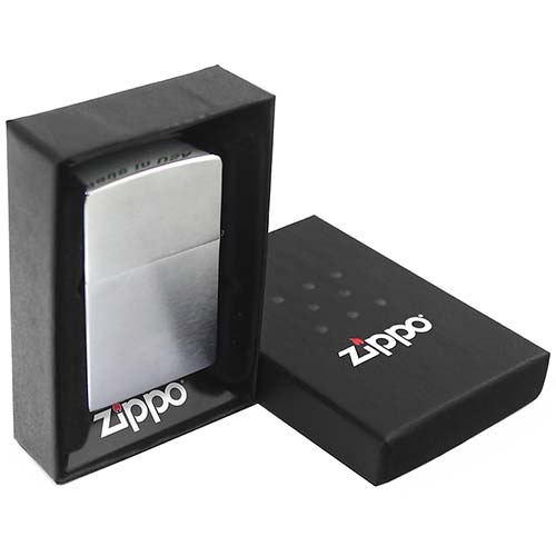 Зажигалка Good Luck с покр. Brushed Chrome серебристая Zippo 200 Good Luck GS