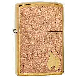 Зажигалка WOODCHUCK USA Flame с покрытием Brushed Brass Zippo 29901 GS