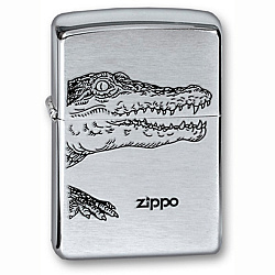 Зажигалка Alligator с покр. Brushed Chrome серебристая Zippo 200 ALLIGATOR GS