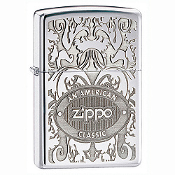Зажигалка Crown Stamp с покр. High Polish Chrome серебристая Zippo 24751 GS