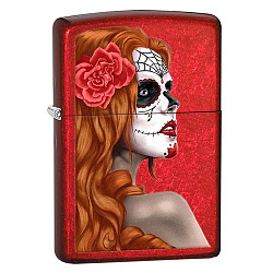 Зажигалка Classic с покр. Candy Apple Red красная Zippo 28830 GS